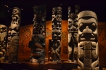 Totem poles in the museum - Victoria, BC