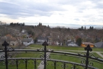 The view from the Castle Balcony. - Victoria, BC